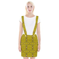 Stars And Flowers In The Forest Of Paradise Love Popart Braces Suspender Skirt