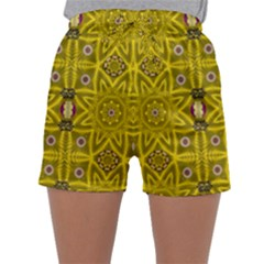 Stars And Flowers In The Forest Of Paradise Love Popart Sleepwear Shorts