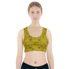 Stars And Flowers In The Forest Of Paradise Love Popart Sports Bra With Pocket
