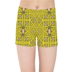 Stars And Flowers In The Forest Of Paradise Love Popart Kids Sports Shorts