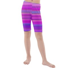Cool Abstract Lines Kids  Mid Length Swim Shorts