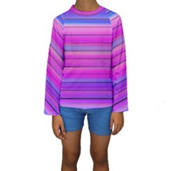 Cool Abstract Lines Kids  Long Sleeve Swimwear
