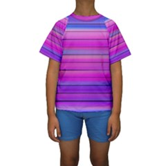 Cool Abstract Lines Kids  Short Sleeve Swimwear