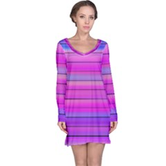 Cool Abstract Lines Long Sleeve Nightdress