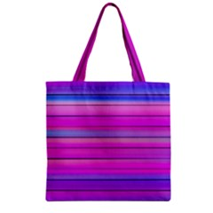 Cool Abstract Lines Zipper Grocery Tote Bag