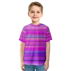 Cool Abstract Lines Kids  Sport Mesh Tee