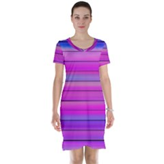 Cool Abstract Lines Short Sleeve Nightdress