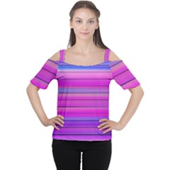 Cool Abstract Lines Women s Cutout Shoulder Tee