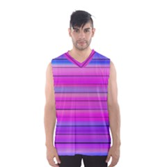 Cool Abstract Lines Men s Basketball Tank Top
