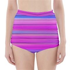 Cool Abstract Lines High-Waisted Bikini Bottoms