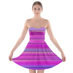 Cool Abstract Lines Strapless Bra Top Dress