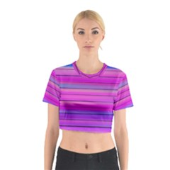 Cool Abstract Lines Cotton Crop Top