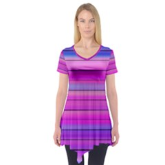 Cool Abstract Lines Short Sleeve Tunic