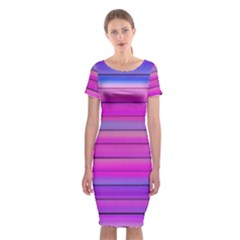 Cool Abstract Lines Classic Short Sleeve Midi Dress