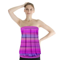Cool Abstract Lines Strapless Top