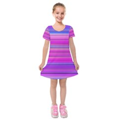 Cool Abstract Lines Kids  Short Sleeve Velvet Dress