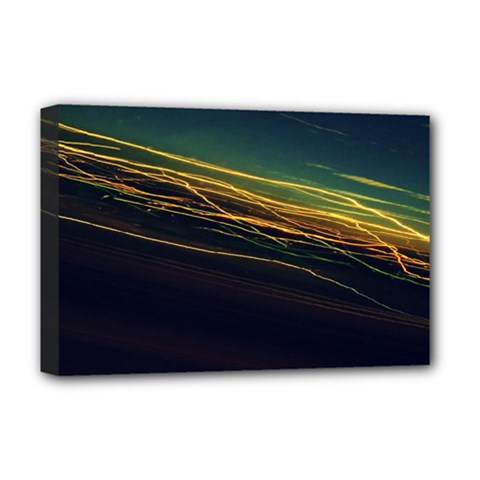 Night Lights Deluxe Canvas 18  x 12