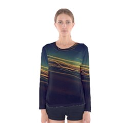 Night Lights Women s Long Sleeve Tee