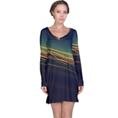 Night Lights Long Sleeve Nightdress
