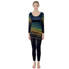Night Lights Long Sleeve Catsuit
