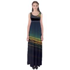 Night Lights Empire Waist Maxi Dress