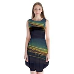 Night Lights Sleeveless Chiffon Dress