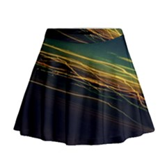 Night Lights Mini Flare Skirt