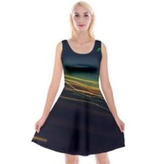 Night Lights Reversible Velvet Sleeveless Dress