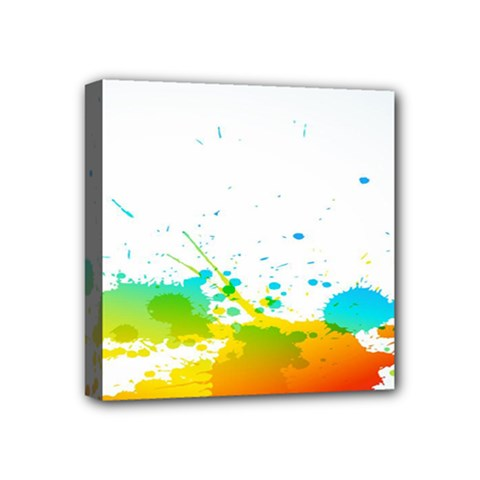 Colorful Abstract Mini Canvas 4  X 4