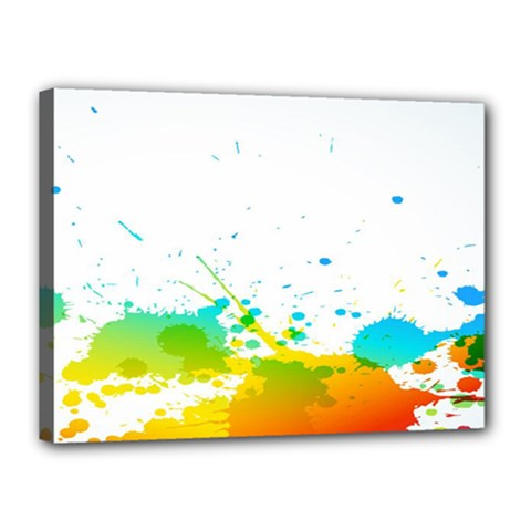 Colorful Abstract Canvas 16  X 12