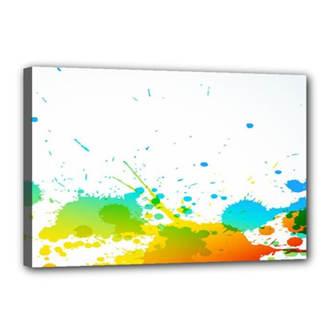 Colorful Abstract Canvas 18  X 12