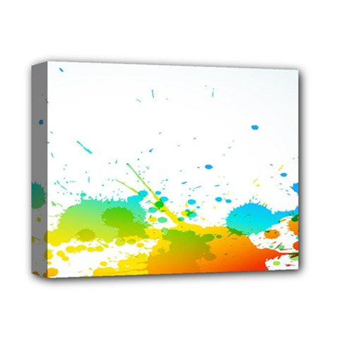 Colorful Abstract Deluxe Canvas 14  x 11