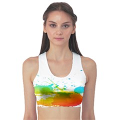 Colorful Abstract Sports Bra