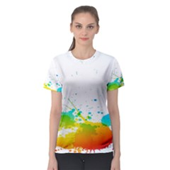 Colorful Abstract Women s Sport Mesh Tee