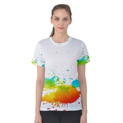 Colorful Abstract Women s Cotton Tee
