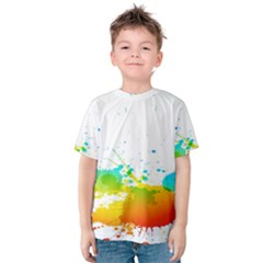 Colorful Abstract Kids  Cotton Tee
