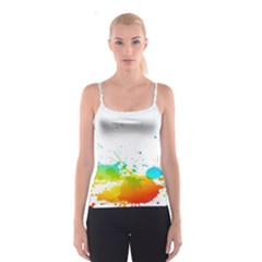 Colorful Abstract Spaghetti Strap Top