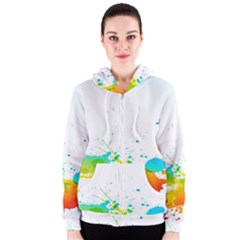 Colorful Abstract Women s Zipper Hoodie
