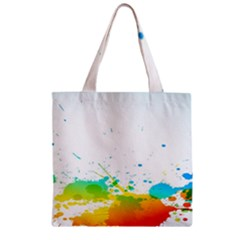 Colorful Abstract Zipper Grocery Tote Bag