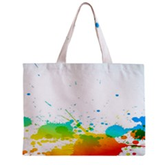 Colorful Abstract Zipper Mini Tote Bag