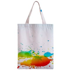 Colorful Abstract Zipper Classic Tote Bag