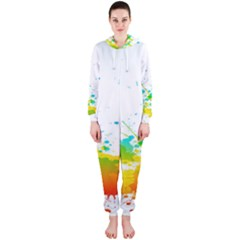 Colorful Abstract Hooded Jumpsuit (Ladies)