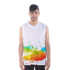 Colorful Abstract Men s Basketball Tank Top