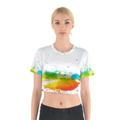 Colorful Abstract Cotton Crop Top