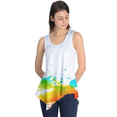 Colorful Abstract Sleeveless Tunic