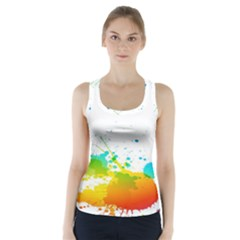 Colorful Abstract Racer Back Sports Top