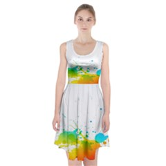 Colorful Abstract Racerback Midi Dress