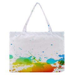 Colorful Abstract Medium Zipper Tote Bag