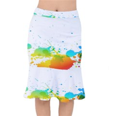 Colorful Abstract Mermaid Skirt