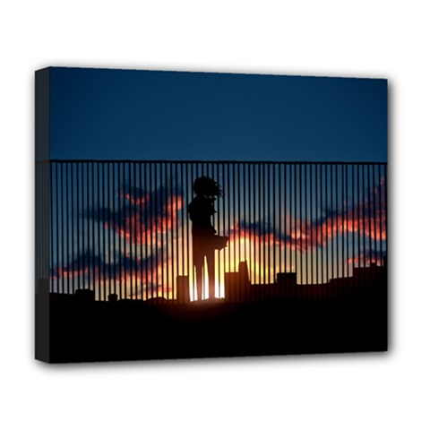 Art Sunset Anime Afternoon Deluxe Canvas 20  x 16